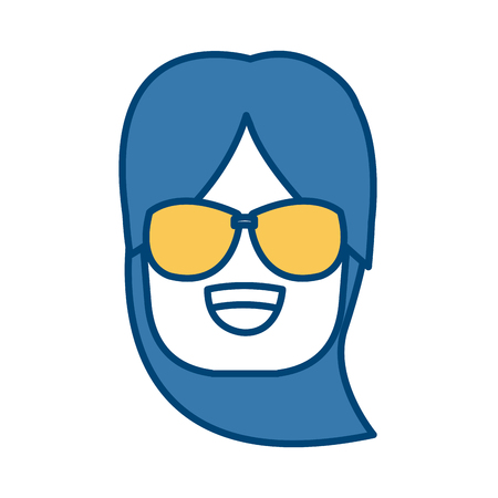Girl with sunglasses icon