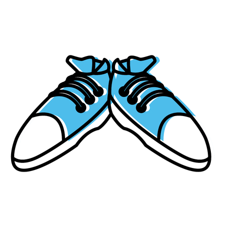 Sport sneakers isolated icon Çizim