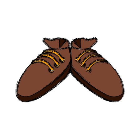 Sport sneakers isolated icon vector illustration graphic design Illustration