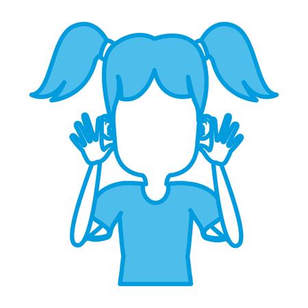 Cute girl cartoon icon vector illustration graphic design