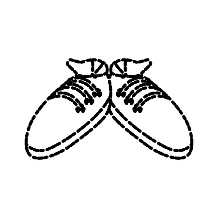 Sport sneakers isolated icon vector illustration graphic design Фото со стока - 87839529