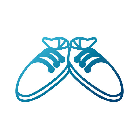 Sport sneakers isolated icon vector illustration graphic