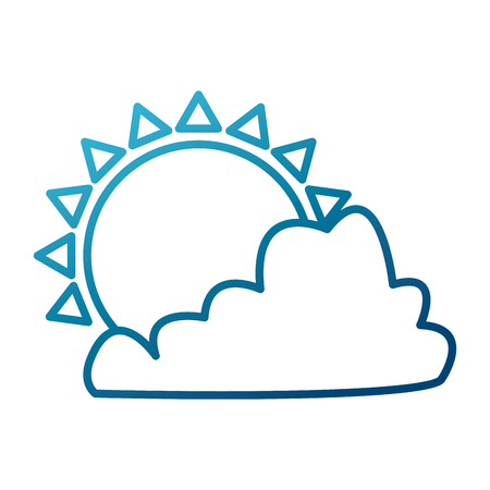Sun and cloud symbol icon vector illustration graphic