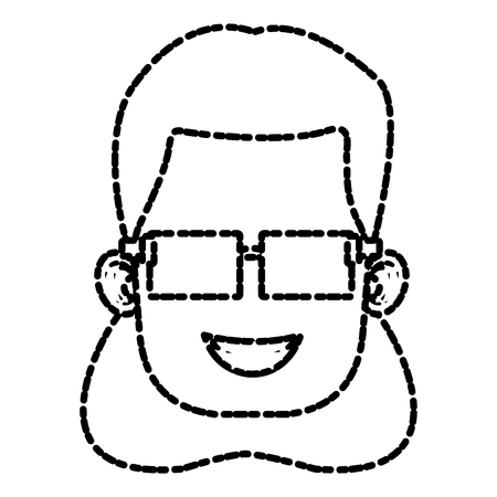 Girl with glasses icon vector illustration graphic