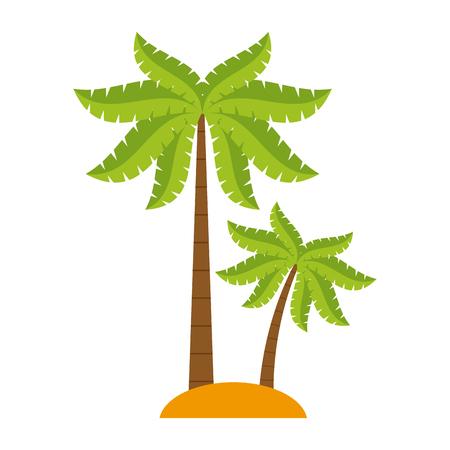 Tree palms nature icon vector illustratino graphic design Illustration