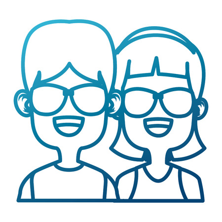 Cute kids friends cartoon icon vector illustration graphic