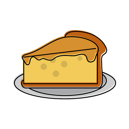 pie plain pastry icon image vector illustration design Illustration