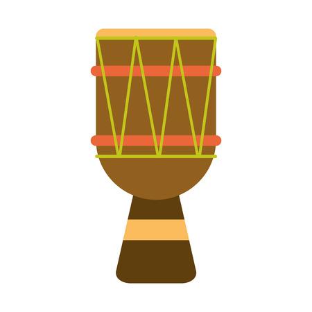 djembe drum music instrument icon image vector illustration design