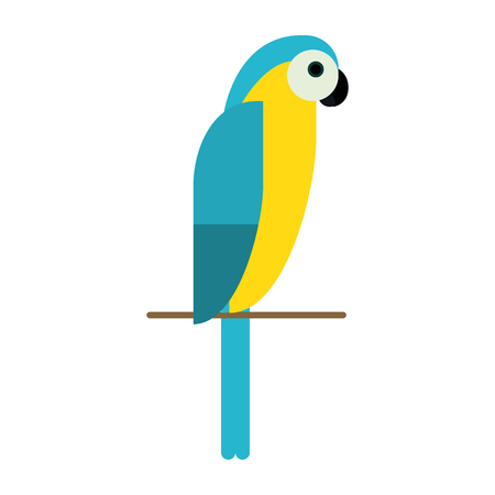 parrot tropical bird icon image vector illustration design