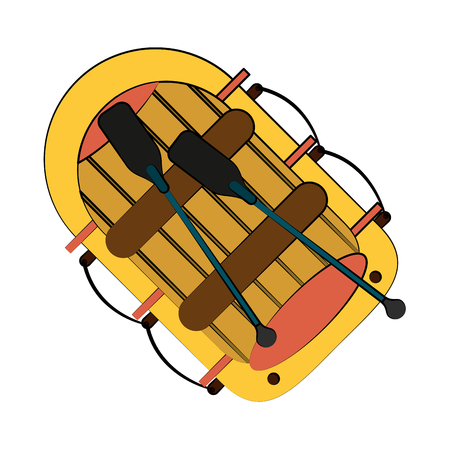 raft row boat icon image vector illustration design Illustration