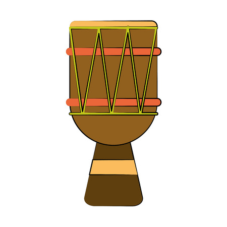 djembe drum music instrument icon image vector illustration design