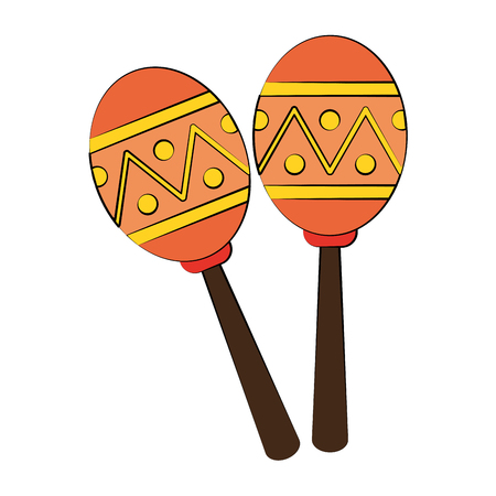 maracas music instrument icon image vector illustration design