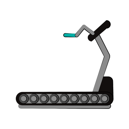 treadmill fitness or sport related icon image vector illustration design Illustration