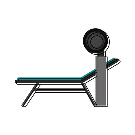 press machine gym fitness or sport related icon image vector illustration design Illustration