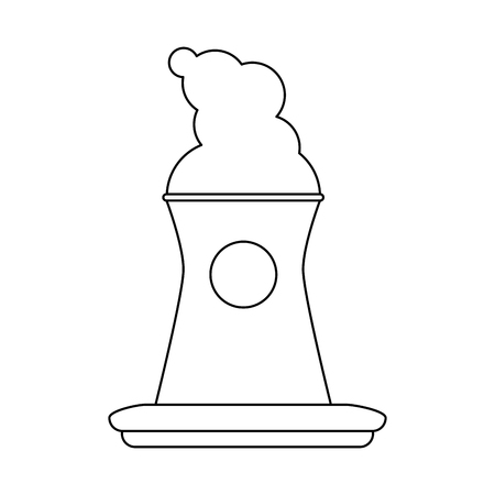 Nuclear plant icon image illustration design  black line Illustration