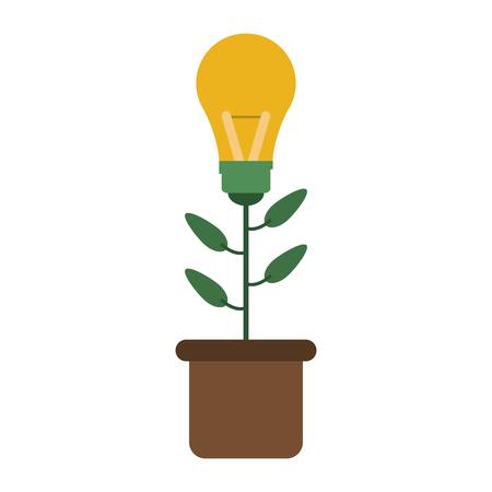 lightbulb plant idea concept icon image vector illustration design