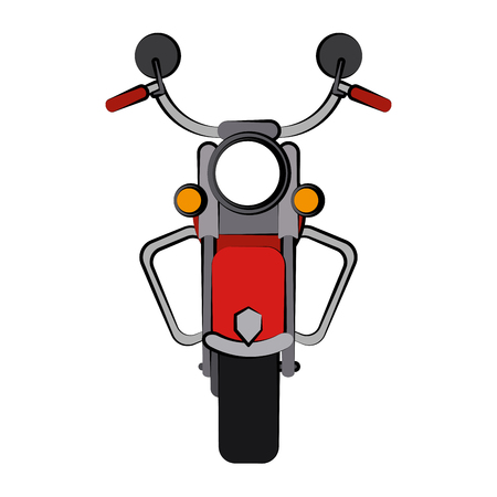 vintage motorcycle frontview icon image vector illustration design