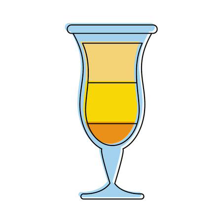 tropical cocktail glass icon image vector illustration design
