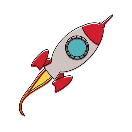 flying rocket icon image vector illustration design