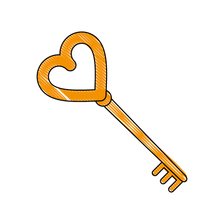 Key of love icon vector illustration graphic design.