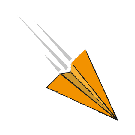Paper plane isolated icon vector illustration graphic design.