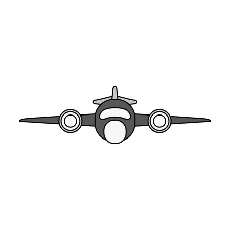 Jet airplane isolated icon vector illustration graphic design.