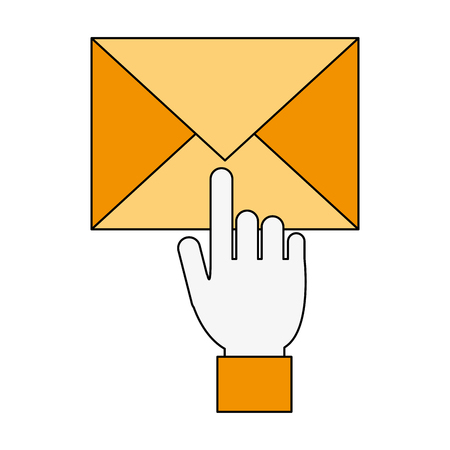 Email or mail symbol icon vector illustration graphic design.