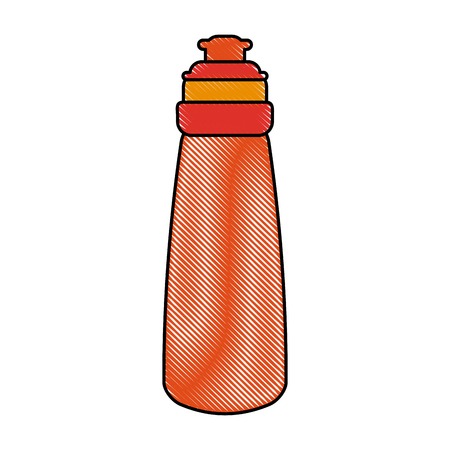 Water thermo bottle icon vector illustration graphic design