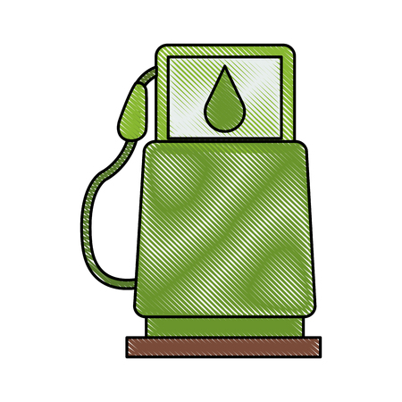 Eco fuel gas station icon vector illustration graphic design