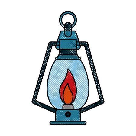 Camping lantern light icon vector illustration graphic design Illustration