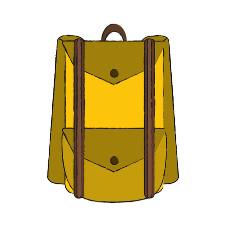 Camping backpack isolated icon vector illustration graphic design Illustration