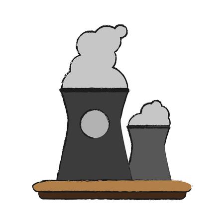 Factory plant symbol icon vector illustration graphic design