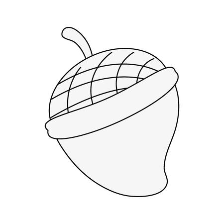 two acorn icon image vector illustration graphic design Illustration