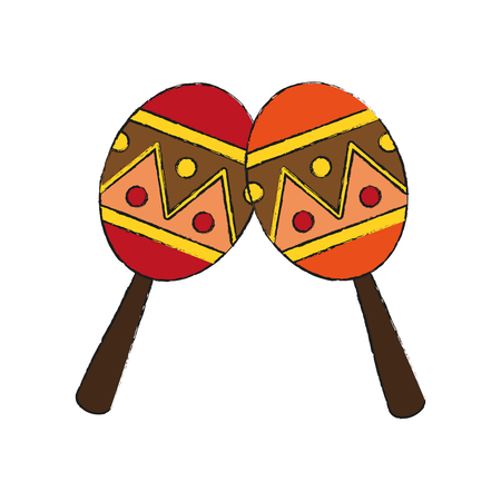 Maracas percussion instrument icon vector illustration graphic design