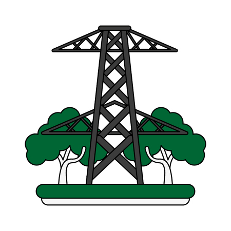 electric tower icon image vector illustration design