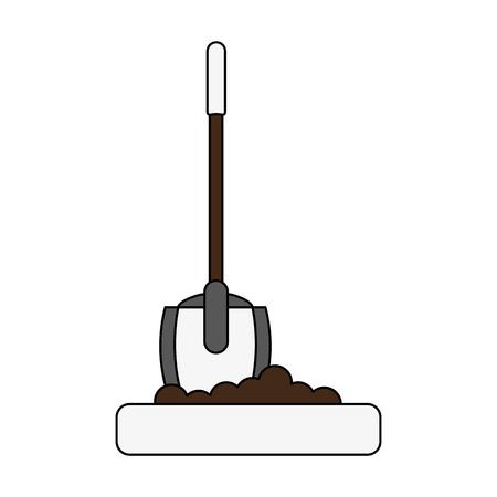 shovel tool icon image vector illustration design Illustration