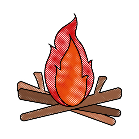 bonfire fire icon image vector illustration design