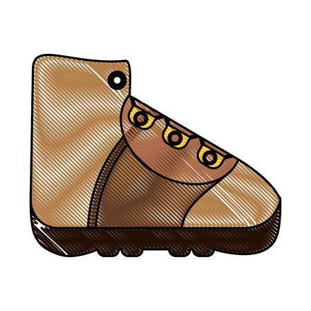 trekking boot icon image vector illustration design Illustration
