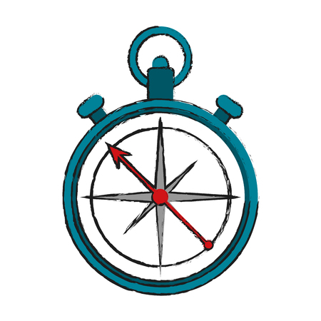 compass navigation icon image vector illustration design