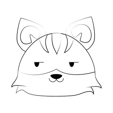 tiger cute animal cartoon icon image vector illustration design Illustration