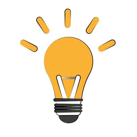 Bulb light energy icn vector illustration graphic design