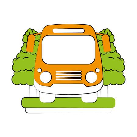 school bus frontview icon