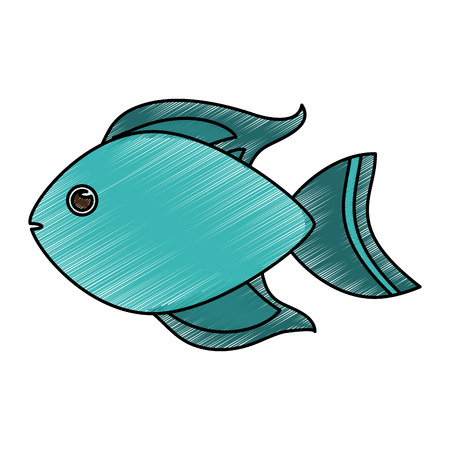 Cute fish cartoon icon