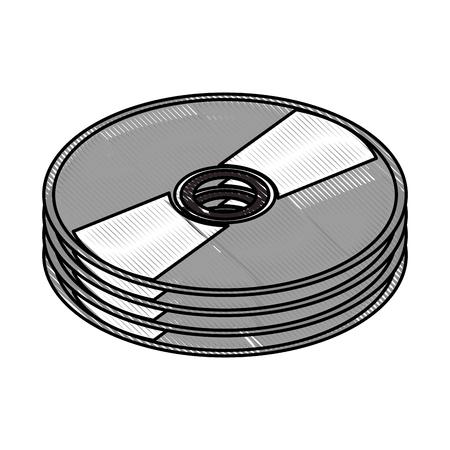 CD icon. Illustration