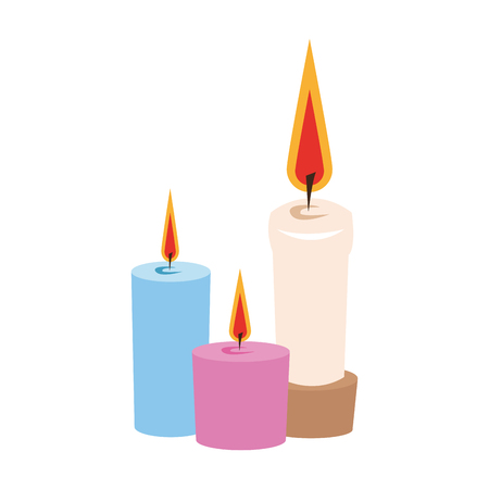 lit candles icon image vector illustration design