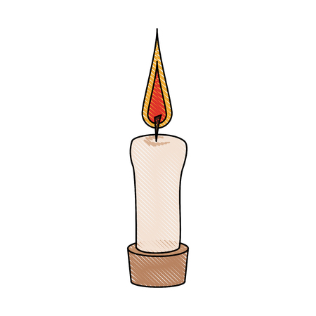 Candle flame isolated icon vector illustration graphic design Illustration