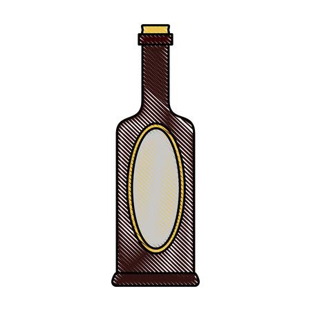 Beer bottle unlabel icon vector illustration graphic design