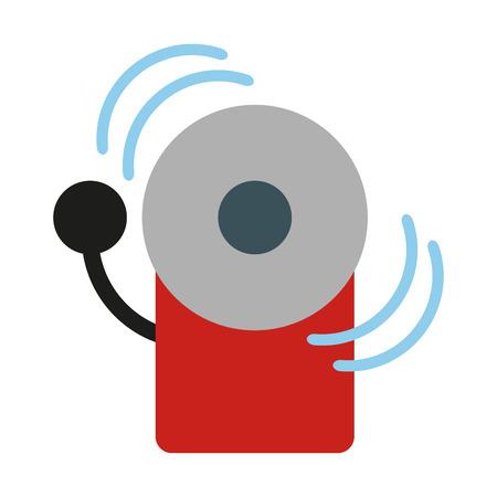 crime prevention: Fire alarm icon image illustration design