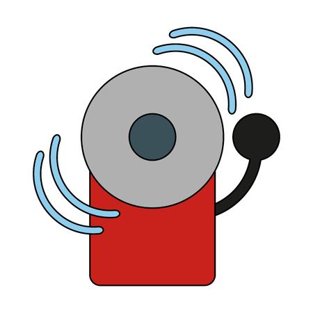 crime prevention: fire alarm icon image vector illustration design