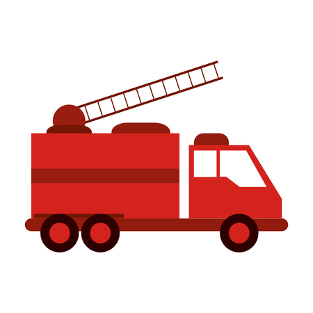Fire truck firefighting related icon image vector illustration design